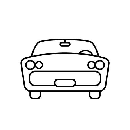 reise retro: Minimal Retro-Auto einfache Reise Transport Icon