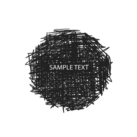 Scribble vector design elements for your text banners Illustration