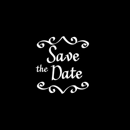 Save the date vector calligraphy digital drawn imitation Illustration