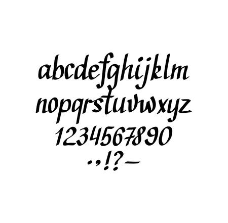 Hand-written italic alphabet Illustration
