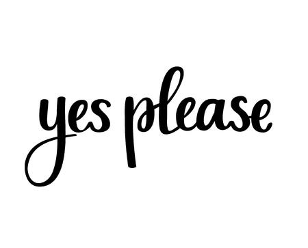 Yew please vector calligraphy phrase