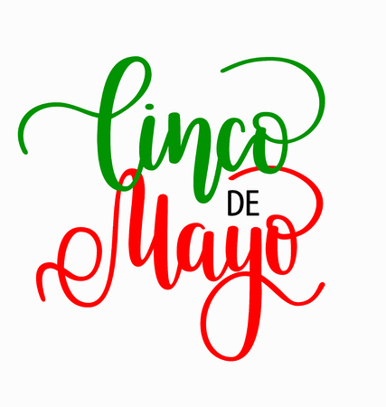 Cinco de mayo lettering. Mexican holiday fiesta greeting design