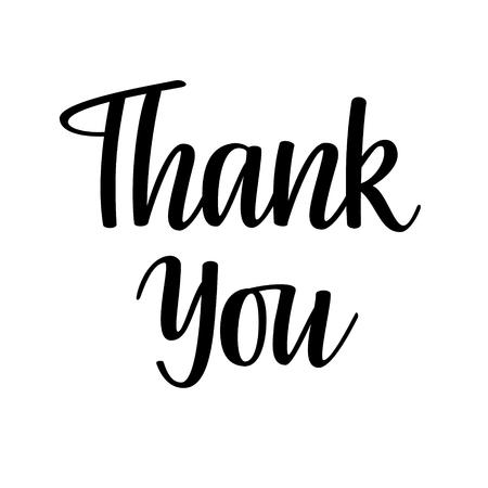 Thank you vector lettering. Greeting card, poster, blog illustration design