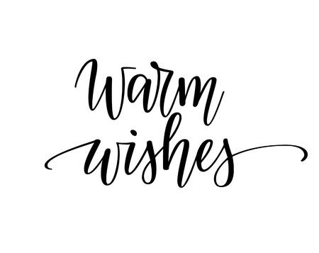Warm wishes vector Christmas seasonal greeting design for poster, mugs or card Reklamní fotografie - 127638165