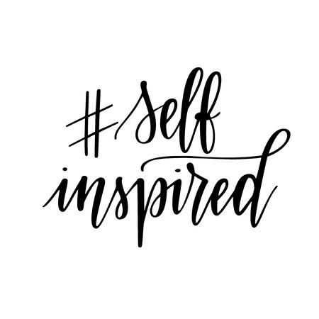 Self inspired hashtag insta vector motivational lettering design Reklamní fotografie - 127024887