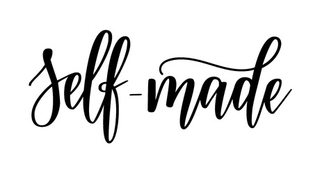 Selbstgemachtes inspirierendes Design der Vektorbeschriftungskalligraphiemotivation