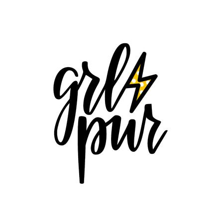 Girl power vector feminist inspiration lettering calligraphy design for prints, posters, mugs, t-shirts Reklamní fotografie - 126852724