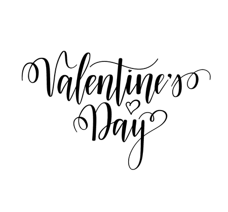 Valentines Day vector nice calligraphy design for cards, posters, ads. Modern lettering