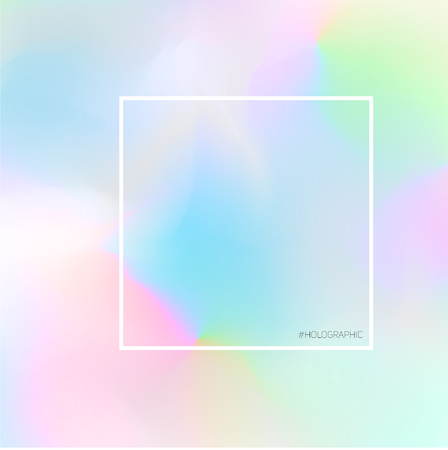 Nice pastel hologram fluorescent background. Trendy gradient in soft colors Ilustrace