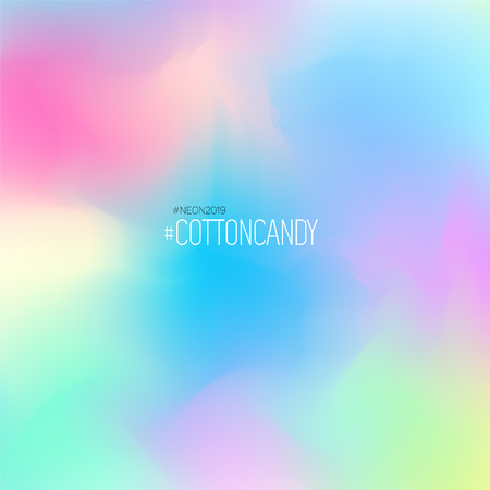 Neon fluid color gradient background. Soft and bright cotton candy palette Ilustrace