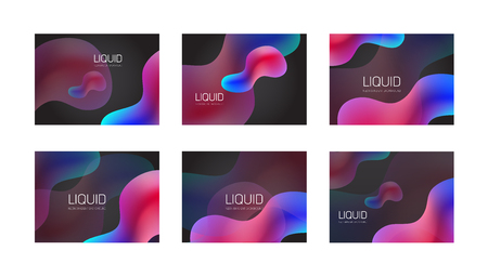 Neon fluid liquid color gradient background. Blue and red prism palette Reklamní fotografie - 125697274