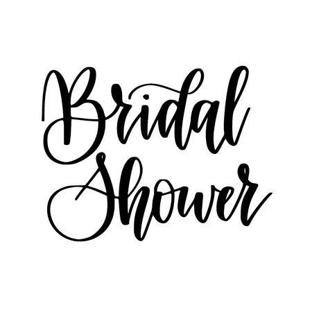 Bridal shower vector calligraphy design illustration bachelorette