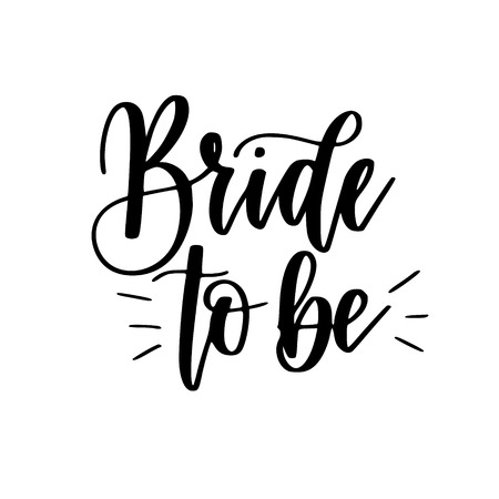 Bride to be bachelorette party vector calligraphy design