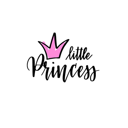 Little, princess vector calligraphy lettering design for t-shirt prints, phone cases, mugs or posters Ilustrace