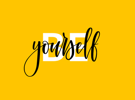 Be yourself motivational lettering design. Inspirational print for t-shirts, posters and blogs Ilustrace