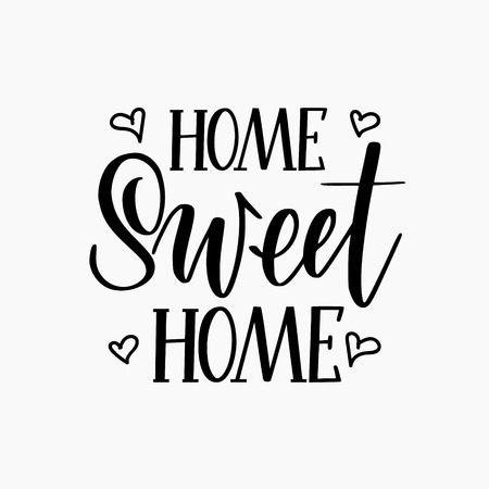 Sweet home vector calligraphy lettering design for decor Ilustrace