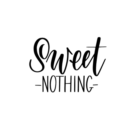 Sweet nothing vector abstract calligraphy lettering quote Reklamní fotografie - 125195397