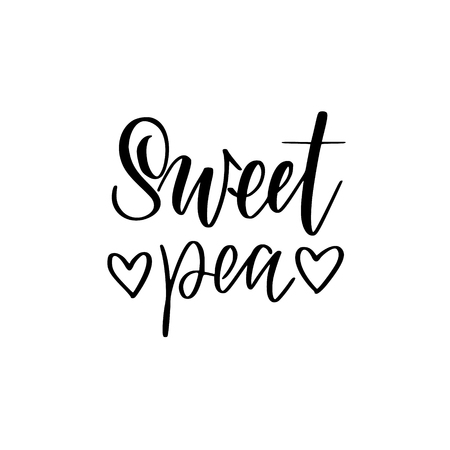 Sweet pea vector nice love lettering design Reklamní fotografie - 125195413