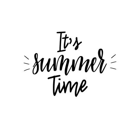It is summer time lettering inspiraiton quote design Reklamní fotografie - 125946571