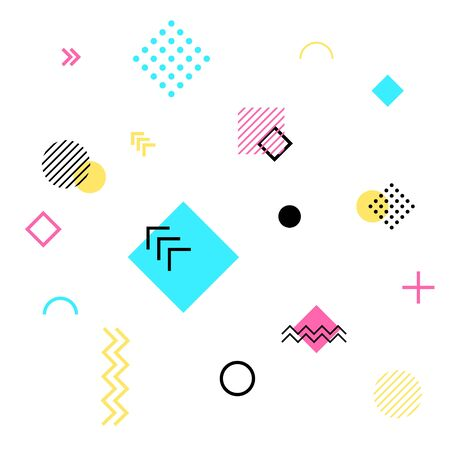 Abstract geometric background. Future patterns design. Trendy seamless outline for cards, posters, covers Ilustrace