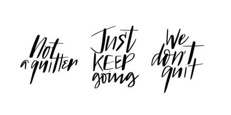 Set of motivation quotes calligraphy brush doodles Stock fotó - 135204429