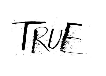 True grunge distressed ruling pen word inspiration design Illusztráció