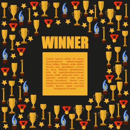 Winner on seamless background Banco de Imagens - 75555748