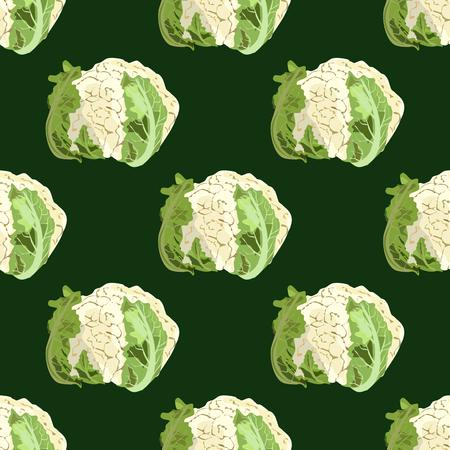 Cauliflower seamless pattern