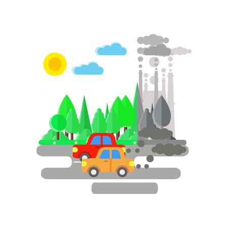 Cars pollute air