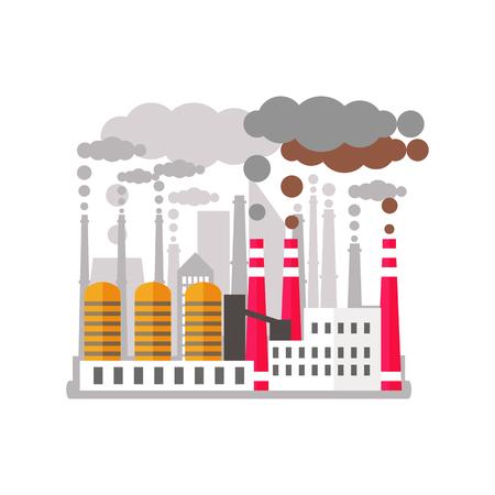 工場は環境を汚染します。 写真素材 - 87394461