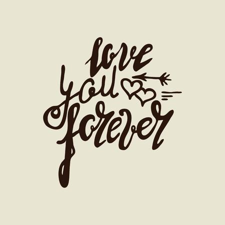 Love you forever vintage Illustration