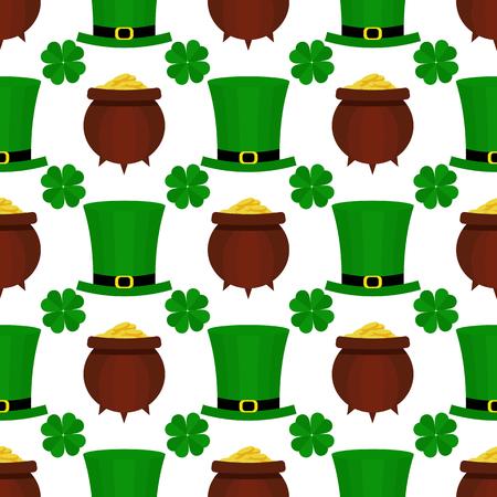 St. Patricka Day flat pattern.