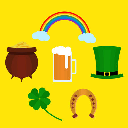 St. Patricka Day flat round.