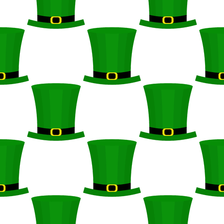 patrics: Seamless pattern with green hat for St. Patricks Day. St. Patrics Day background for cards, invitations.