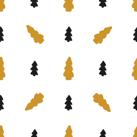 Seammless pattern with spruce, vector. Could be used as background, for fabric, textile, wallpaper. New Year, Christmas Illustration