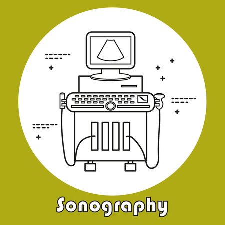 Ultrasound Machine Isolated Royalty Free Cliparts Vectors And