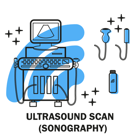 Ultrasound machine isolated