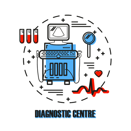 Ultrasound machine isolated