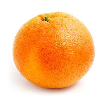 toronja: frutas de pomelo fresco aisladas sobre fondo blanco