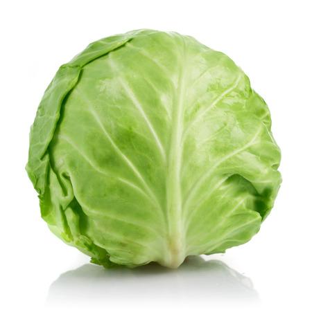 Verse kool rijpe groente. Geïsoleerd op witte achtergrond Stockfoto