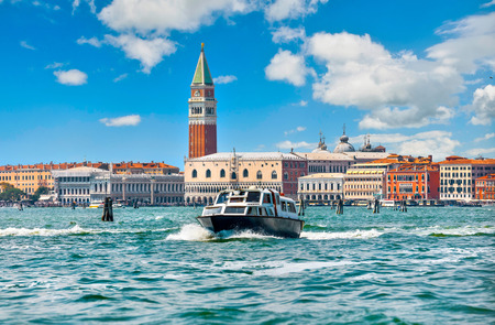 Grand Canal St Marks Campanile Venice Italy Saint square view.