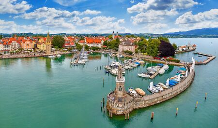 Antique bavarian town at Lake Constance (Bodensee). Stockfoto