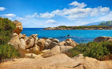 Karidi beach beach at peninsula Sithonia, Chalkidiki, Greece. Stock Photo