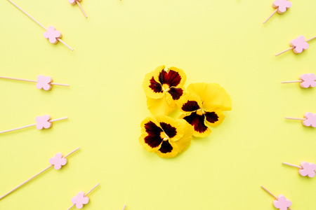 Seamless background with summer flowers Stok Fotoğraf