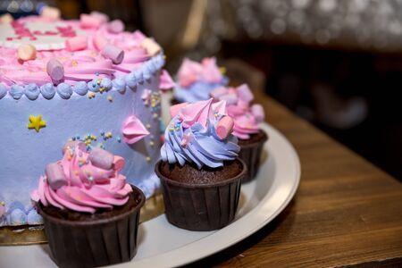 Homemade Velvet cake, happy Birthday, sweet food