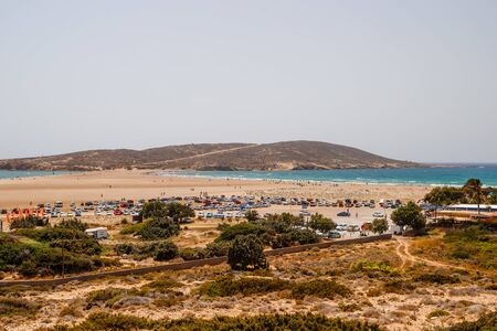 Greece. Rhodes. Prassonisi the Kiss of two seas