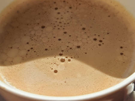 coffee foam texture.Traditional Turkish Coffee. Close up. Top view. tasty Morning hot drink.bubbles of hot coffee