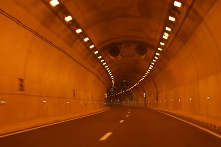 Tunnel road Imagens