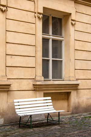 window bench: Window and a Bench