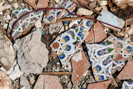 junkyard: If you want to make the world more beautiful, trash something nice. Junkyard in Morocco. Stock Photo